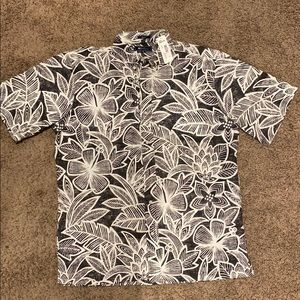 Reyn Spooner Button Down Tropical Floral Pattern M